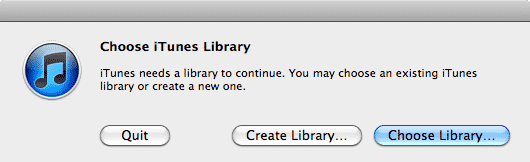 Transferring iTunes library database