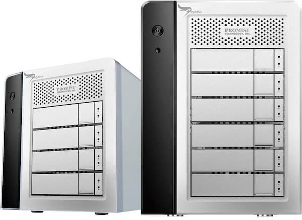 Promise Pegasus R4 + R6 RAID Storage Systems