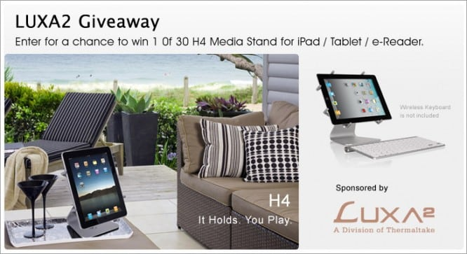Luxa2 iPad Stand Giveaway – Winners Announced
