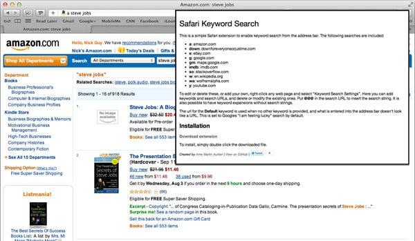 Arne Martin Aurlien Safari Keyword Search