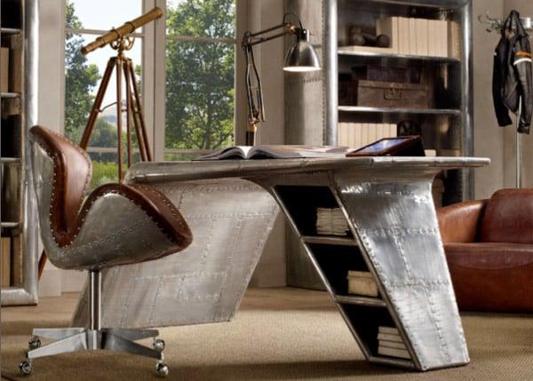 Restoration Hardware Aviator Wing Desk