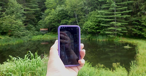 Photo of the Week: iPod touch in Vermont