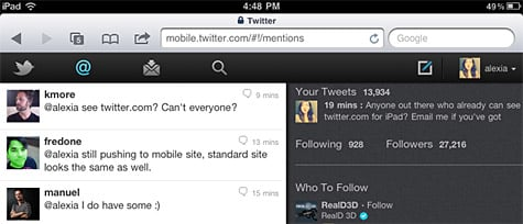 Twitter launches improved web interface for iPad