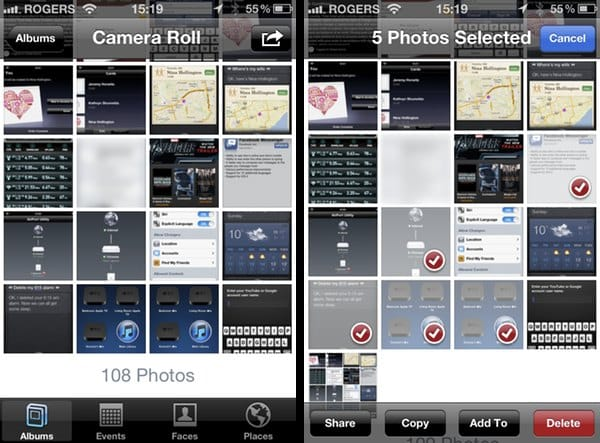 Batch deleting photos in Camera Roll