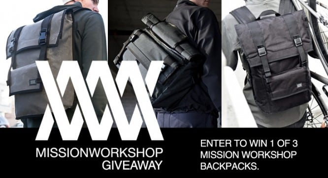 Mission Workshop Giveaway – Winners Announced