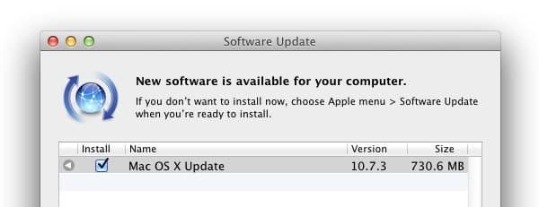 Apple OS X 10.7.3 Update