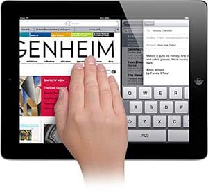 Enabling multitasking gestures on the iPad