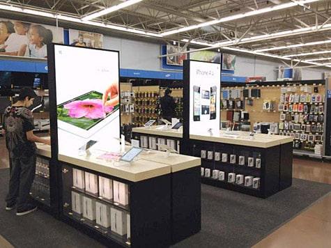 New Apple displays appear at Walmart