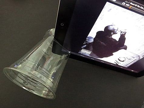 Boosting your iPad speaker using a cup