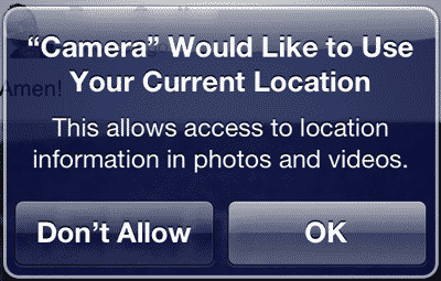 Location Services and access to Camera Roll photos