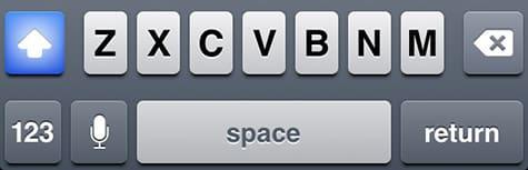 Enabling Caps Lock on iOS