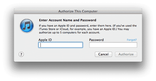 Apple IDs and restoring purchased content to iTunes