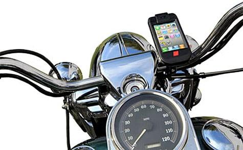 Velocomp ships iBike Moto mount for iPhone