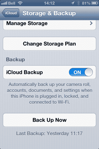 Backing Up Phone Numbers to iCloud