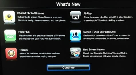 Apple TV updated to software version 5.1