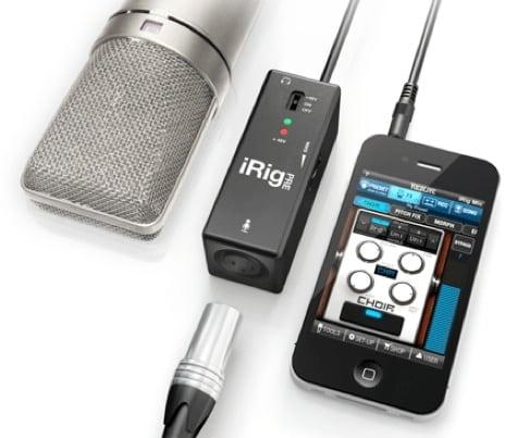 IK Multimedia debuts iRig PRE mic interface