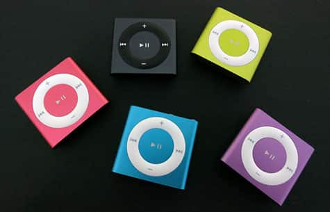First photos show 2012 iPod shuffle colors, textures