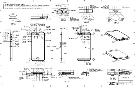 Blueprints for iPhone 5, new iPods posted online