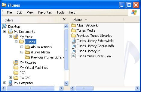 Recovering an iTunes library onto a new PC