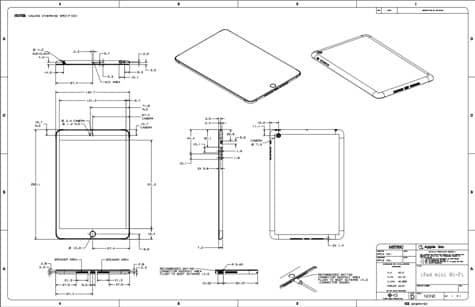 iPad mini, fourth-gen iPad dimensions posted online