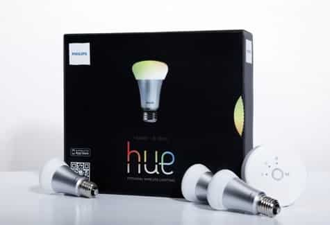 Philips Hue Wi-Fi lightbulbs in Apple stores Oct. 30