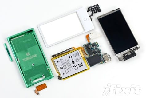 iPod nano 7G torn down, 220 mAh battery inside