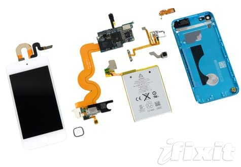 iPod touch 5G teardown finds 512MB of RAM, 1030mAh battery