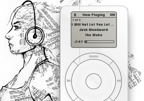 Virtual classic iPod a tribute to Jobs