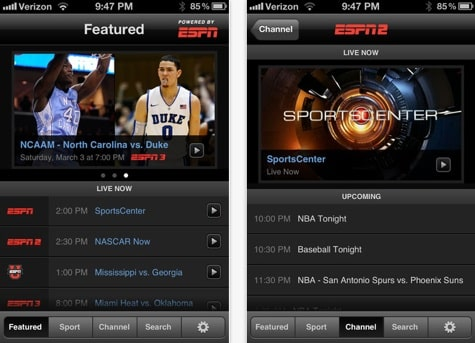 ESPN app adds AirPlay support for all channels