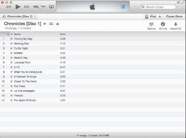 Joining CD Tracks in iTunes 11