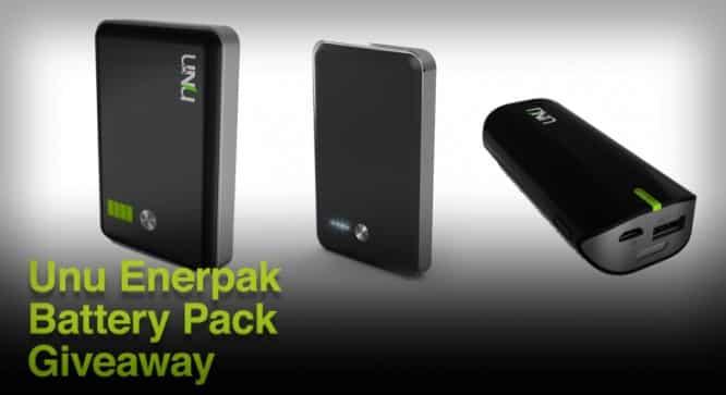 Unu Enerpak Battery Pack Giveaway – Winners Announced
