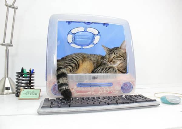 Atomic Attic Upcycled iMac Pet Bed