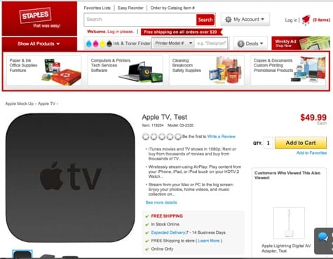 Staples to sell Apple products?