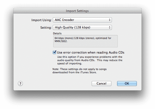 Slow sync speeds when converting to 128kbps