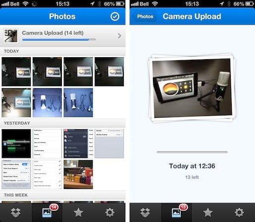 Automatically backing up photos via cellular data