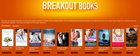 iTunes adds self-published Breakout Books section