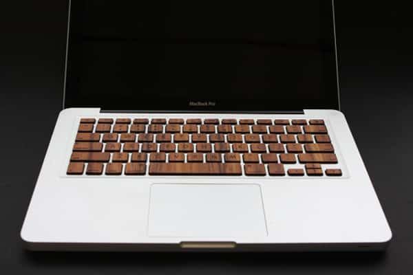 Raw MacBook Wood Keyboard