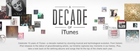 Apple launches 'A Decade of iTunes'