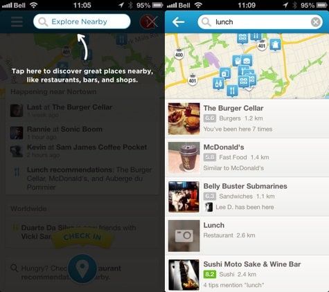 Apps: Chrome, Foursquare 6.0, Real Racing 3 1.1 + Status Board