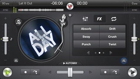Apps: Djay 1.6.4, ShutterSnitch 2.9.6, SkyDrive 3.0 + Twitter 5.5