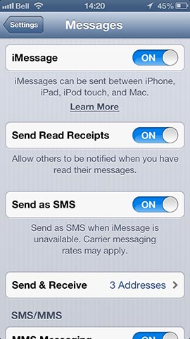 Sending iMessages to an iPhone that is out of coverage