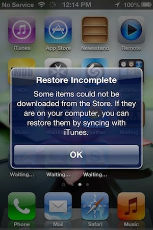 Retaining older versions of Apps during an iOS Restore