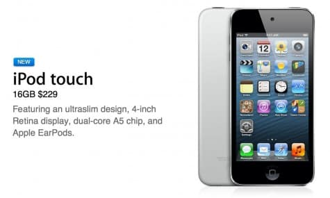 Apple debuts stripped 16GB iPod touch 5G, nixes 4G model