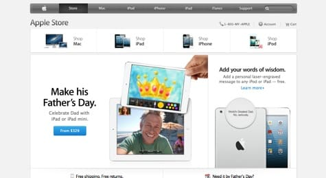 New Apple online store design alters focus, hides deals