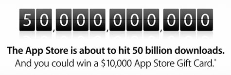 Apple counting down to 50 billion app downloads