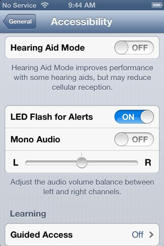 Flashing LED for alerts on iPhone
