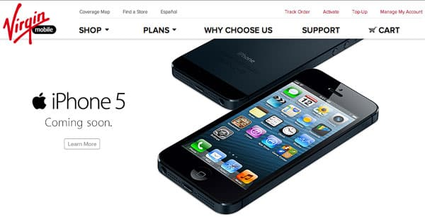 iPhone 5 headed to Virgin Mobile