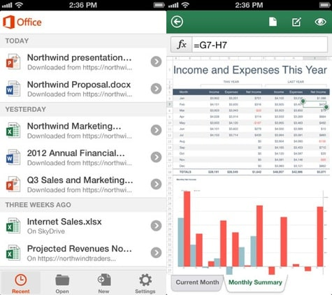 Microsoft Office app arrives for iPhone, iPod
