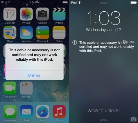 iOS 7 now warns on non-certified Lightning accessories
