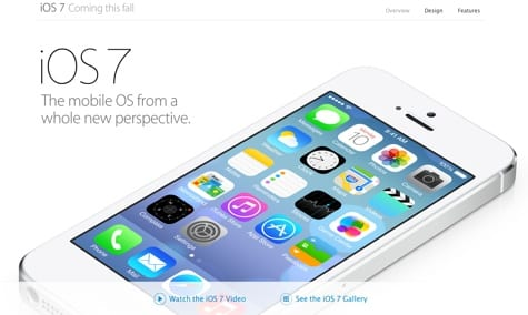 Apple posts iOS 7 in action page